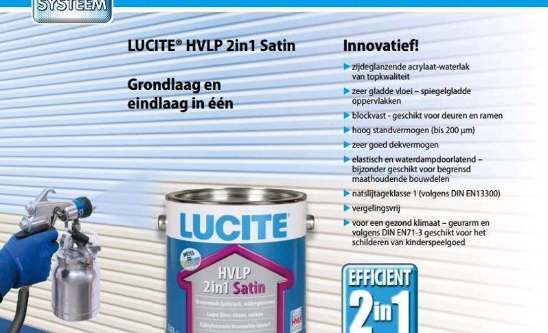 Lucite HVLP 2-in-1 lak Satin